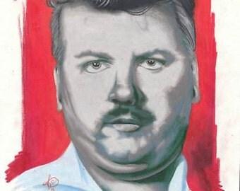 portrait of serial killer john wayne gacy, the clown, DIGITAL DOWNLOAD, printable