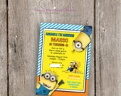 Minions Birthday Invitation Custom - Digital