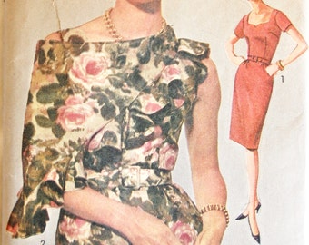 "Vintage 1962 Advance Misses' Wiggle Dress and Shawl Pattern 3052 Size 18 (38"" Bust) UNCUT"