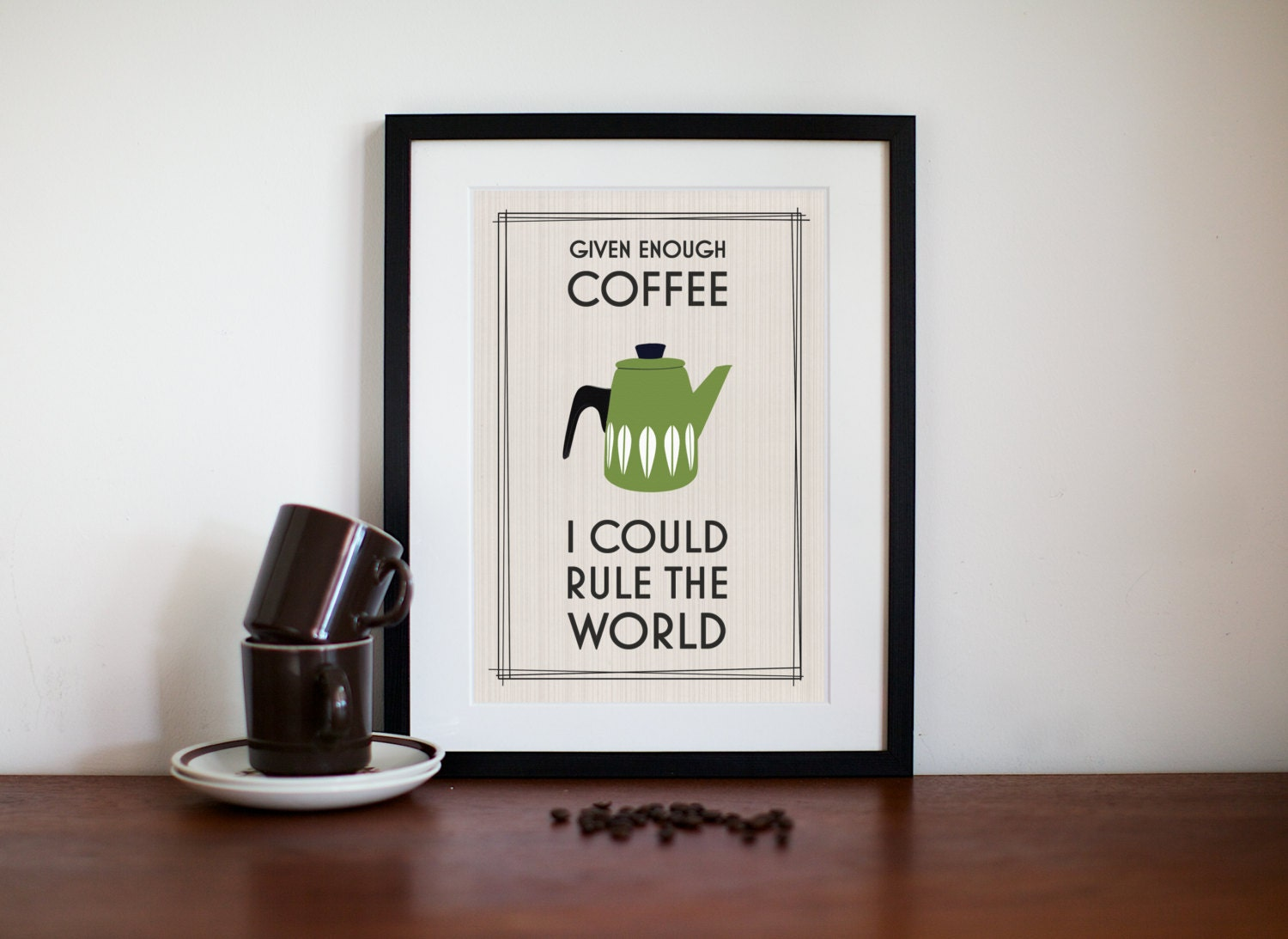 cathrineholm kitchen art coffee quote office art eames