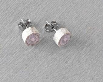 Driftwood Stud Earrings - Petite Wood Post Earrings - Exotic Tropical Wood Earrings
