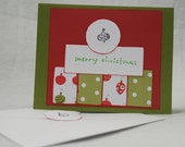 Christmas Ornament Card Handmade OOAK