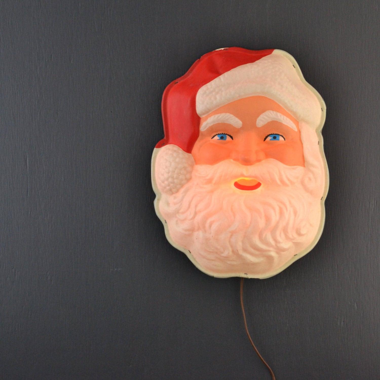 Vintage Hanging Santa Claus Face Santa Claus Light Vintage