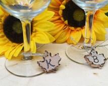 Maple Leaf Wine Charm, Necklace Charm, Charm