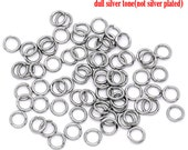 100 Stainless Steel Open Jump Rings - 5mm - 20 Gauge -  0.8mm - Ships IMMEDIATELY  from California - F105