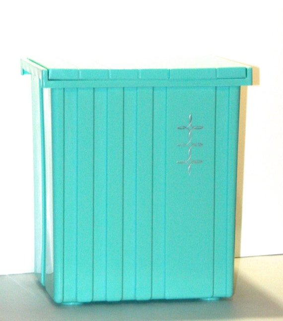 Vintage Retro Atomic Turquoise Aqua Teal And Silver Laundry