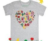 Lithuania In My Heart Kids Tshirt - Lithuanian souvenir - gift idea for Children / Kids / Girls / Boys / Girl / Boy