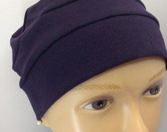 Organic Navy Blue Jersey Knit Hat