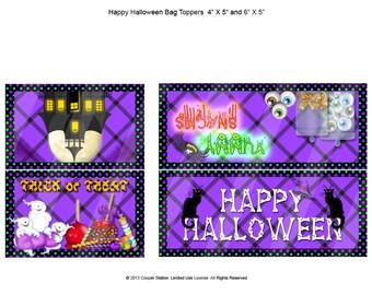 Digital Halloween Bag Topper