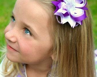Butterfly Hair Bow - Purple Hair Bow - Lavender Hair Bow - Small Hair Bow -  Buttefly - Purple - Lavender - Girl Hair Accessories