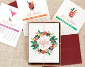 Festive Recipe Holiday Cards : Julep, Cosmo and Glühwein Multipack of 12