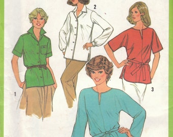 Tunic or Blouse Pattern Simplicity 9045 Size 18 Uncut
