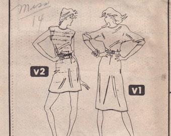 Simple Casual Dress Pattern Simplicity 5924 Size 16 Uncut