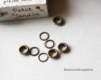 10 (sets) Anti Brass Round Ring, DIY bag, T64