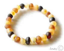 Raw Unpolished Baltic Amber Bracelet, Unisex Bracelet