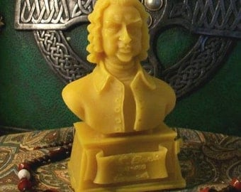 Bach Bust Beeswax Candle Composer Series