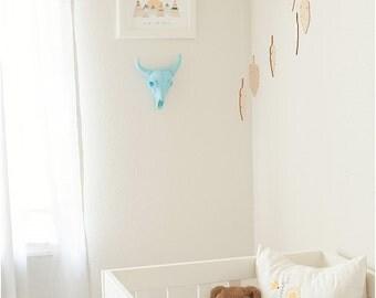 feather mobile - dream catcher mobile - wood feathers - vegan - southwestern nursery decor - boho nursery - bohemian decor