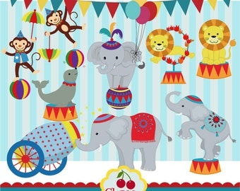 Circus Clip Art, Carnival Clip Art -Personal and Commercial Use-paper crafts,card making,scrapbooking