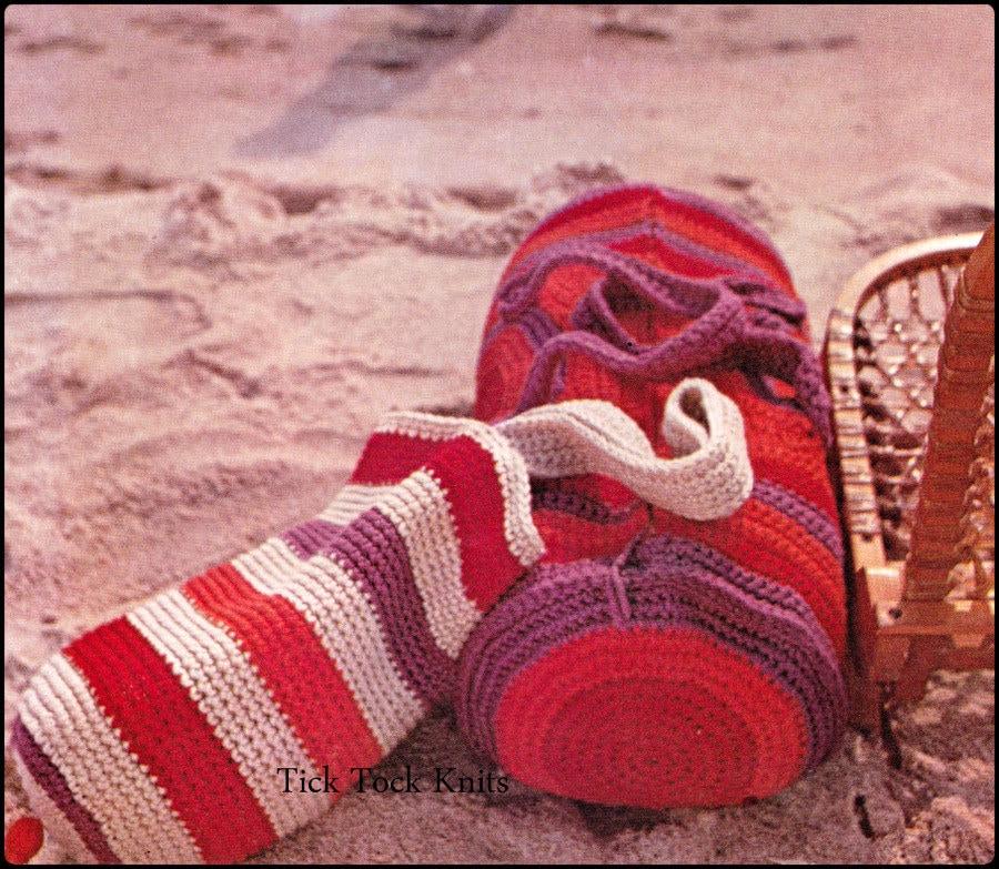 No.263 Crochet Pattern Vintage PDF Tote Bag & by TickTockKnits