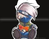 Chibi KAKASHI from Naruto keychain / phone charm
