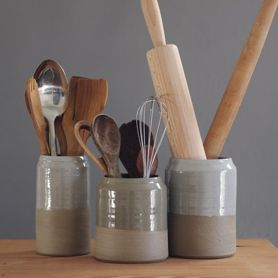 Kitchen utensil holder your choice of colors modern for Modern kitchen utensil