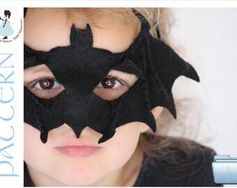 Bat Mask PATTERN. Kids Bat Costume Sewing Pattern.