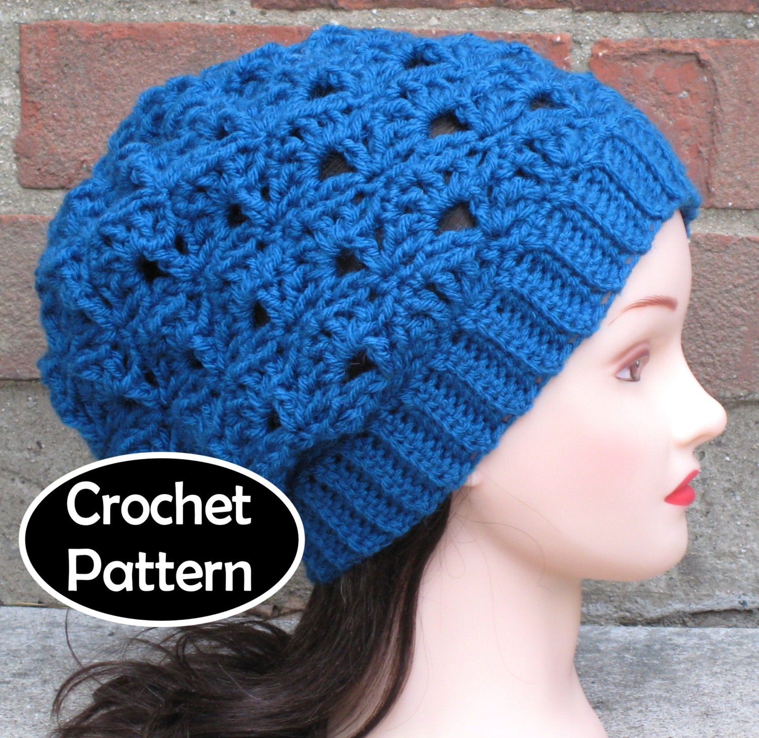 Crochet Hat Pattern Download : CROCHET HAT PATTERN Pdf Instant Download Marina Slouchy