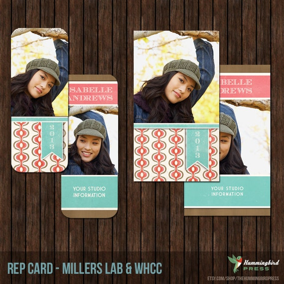 INSTANT DownloadSenior Rep Card Template, Referral Card - Millers and WHCC - R8