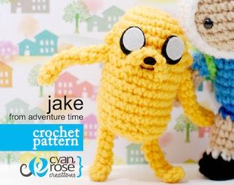 Instant Download - Jake, from Adventure Time - amigurumi CROCHET PATTERN