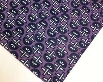 Block Printed Raspberry Cotton Fabric - Cotton Fabric - Floral Print Indian Fabric- Soft Cotton for Dress / Nursery / Quilting / Crafting