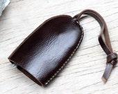 Bell keys holder/ soil brown genuine cow leather