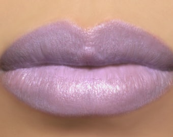 "Light Purple Vegan Lipstick - ""Sugared Violet"" (light violet lipstick) natural lip tint, balm, lip colour"
