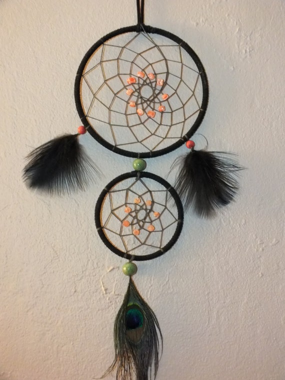 Pin double dream catcher on pinterest for How to make a double ring dreamcatcher