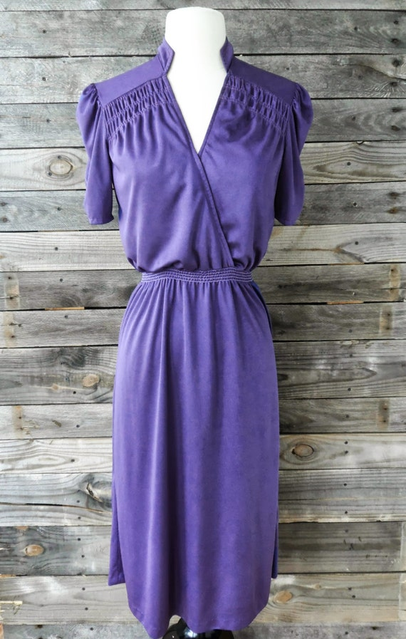 Vintage Young Edwardian Purple Day Dress