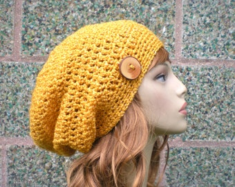 PATTERN:  Autumn Slouch-  Unisex slouchy beanie, crochet hat P D F, easy crochet pattern, InStanT DownLoaD,  Permission to Sell