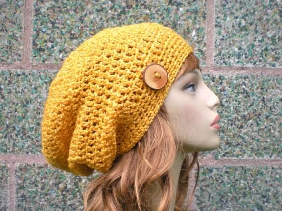 Crochet Patterns Slouchy Beanie : Slouch- Unisex slouchy beanie, crochet hat P D F, easy crochet pattern ...