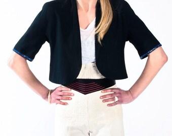 Vintage little bolero jacket by Ferrè // 90s // M size