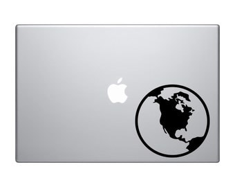 Space Icon - Planet Earth Cartoon Extraterrestrial - Macbook Vinyl Sticker Decal Mac Apple Laptop iPad
