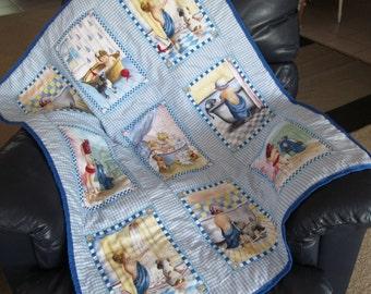Bathtime baby quilt/Patchwork