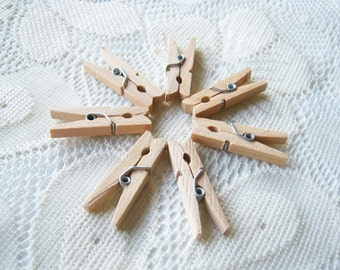 Wooden Clothespins Unfinished Litlle mini clothespin 50pcs, for next handcraft project, party, decoration,wedding, party, wedding favor