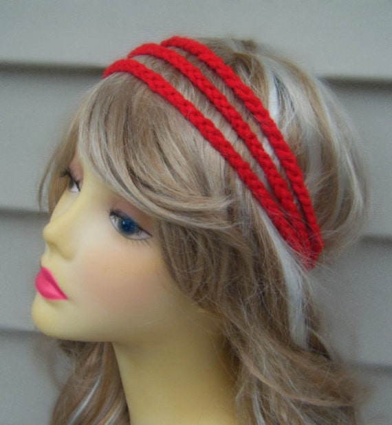 Hippie Headband Knitting Pattern : Boho Headband Crochet Chain Headband Hippie Headband by ...
