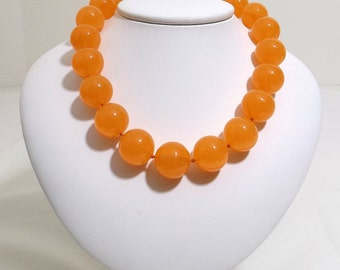 Juicy Cantaloupe Lucite Bead Necklace