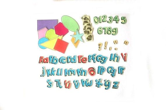 Montessori Toy Alphabet - Flannel Board - Felt Shapes - Felt Numbers - Felt Letters - Felt Stories - Felt Board - Preschool Curriculum