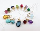 Birthstones Semi-Precious Stones Gold Fill or Sterling Silver Wire Wrapped Semi-Precious Jewelry ADD-ON