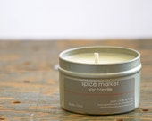 Spice Market Soy Candle Tin 4 oz. - cinnamon soy candle - fall spice candle - clove soy candle - fall soy candle - holiday soy candle