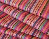 Aztec Fabric, Peruvian Fabric, Woven, Rosa Stripes, 1 Yard