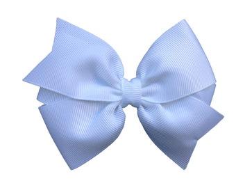 4 inch white hair bow - white bow, 4 inch bow, pinwheel bows, girls hair bows, white hair bows, girls bows, toddler bows, hair bows, bows