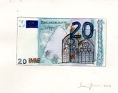 Money art - joke item - fake art - fake money - 20 Euros (art)