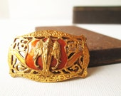 Vintage three head elephant (Airavata) god brass belt buckle (rare)