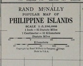 Philippine Islands Vtg Map, 1928